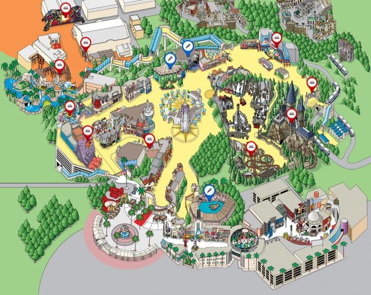 Universal Studios Map